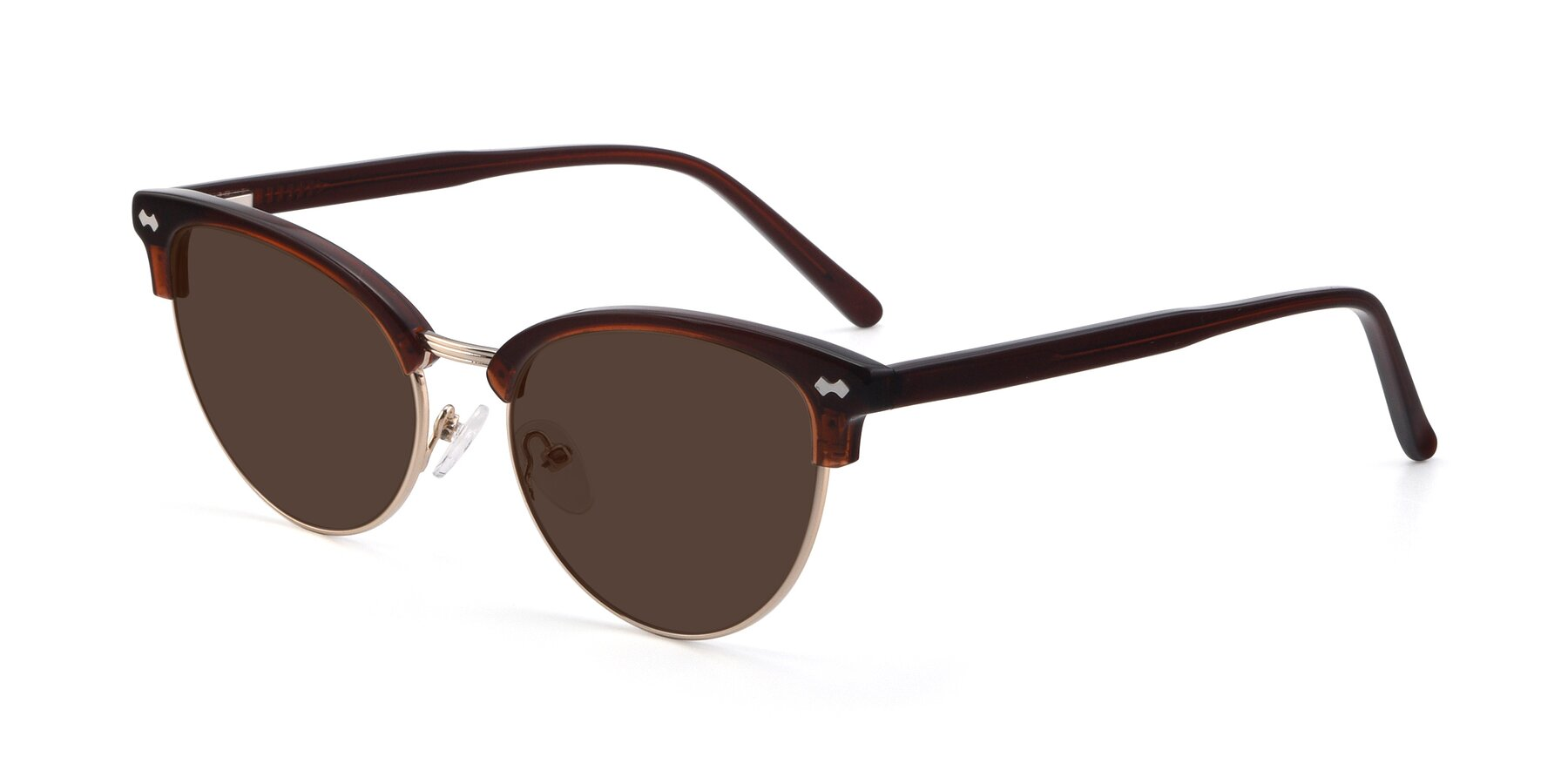 Angle of 17461 in Tortoise-Black with Brown Tinted Lenses