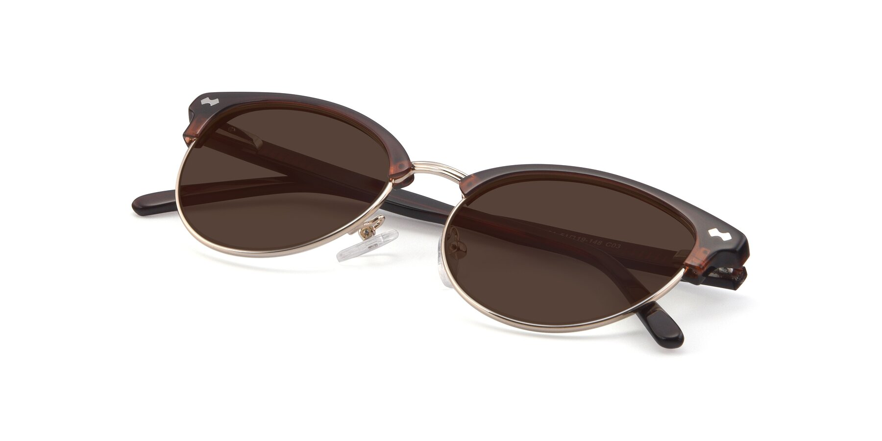 View of 17461 in Tortoise-Black with Brown Tinted Lenses