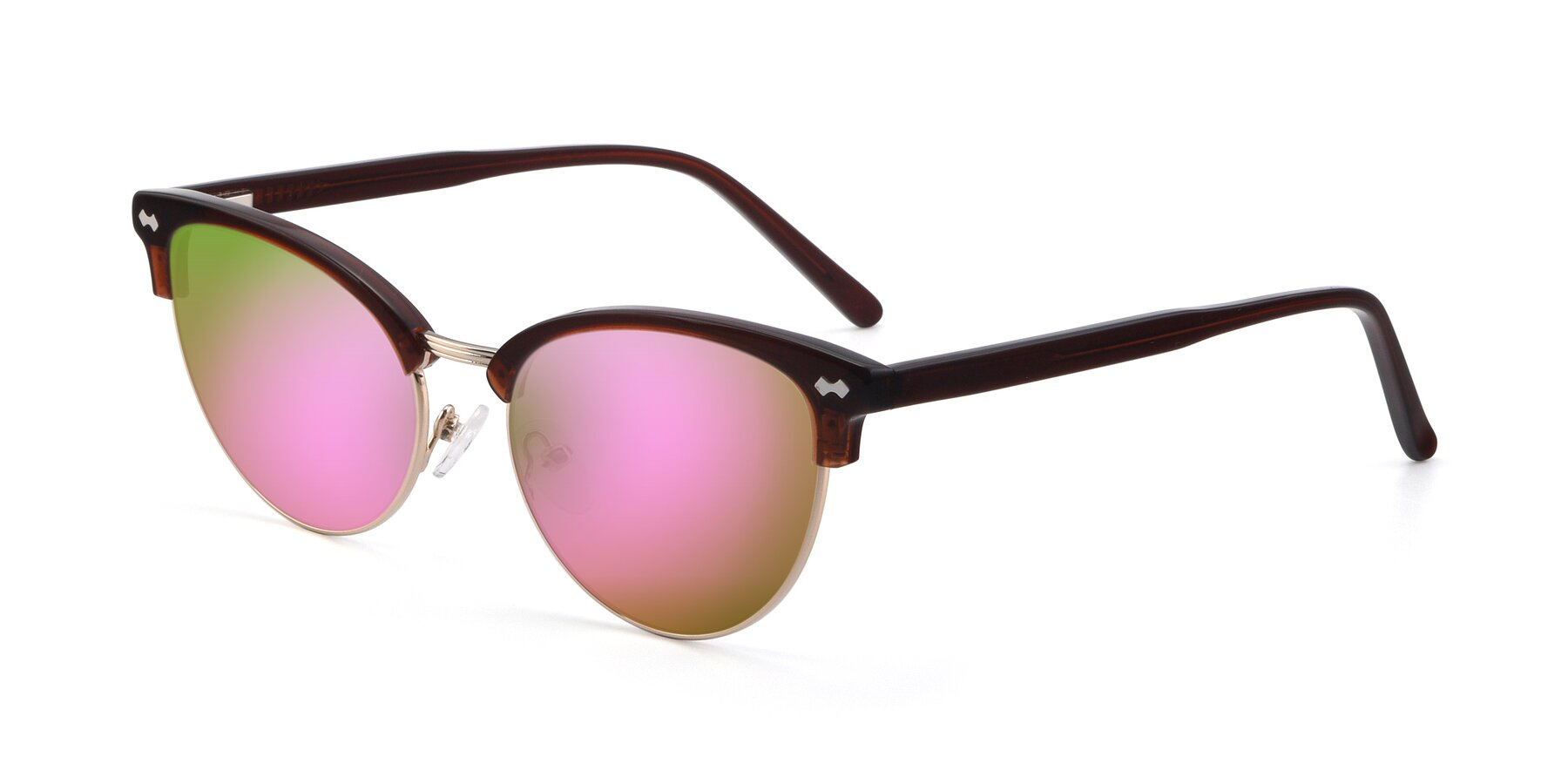Angle of 17461 in Tortoise-Black with Pink Mirrored Lenses