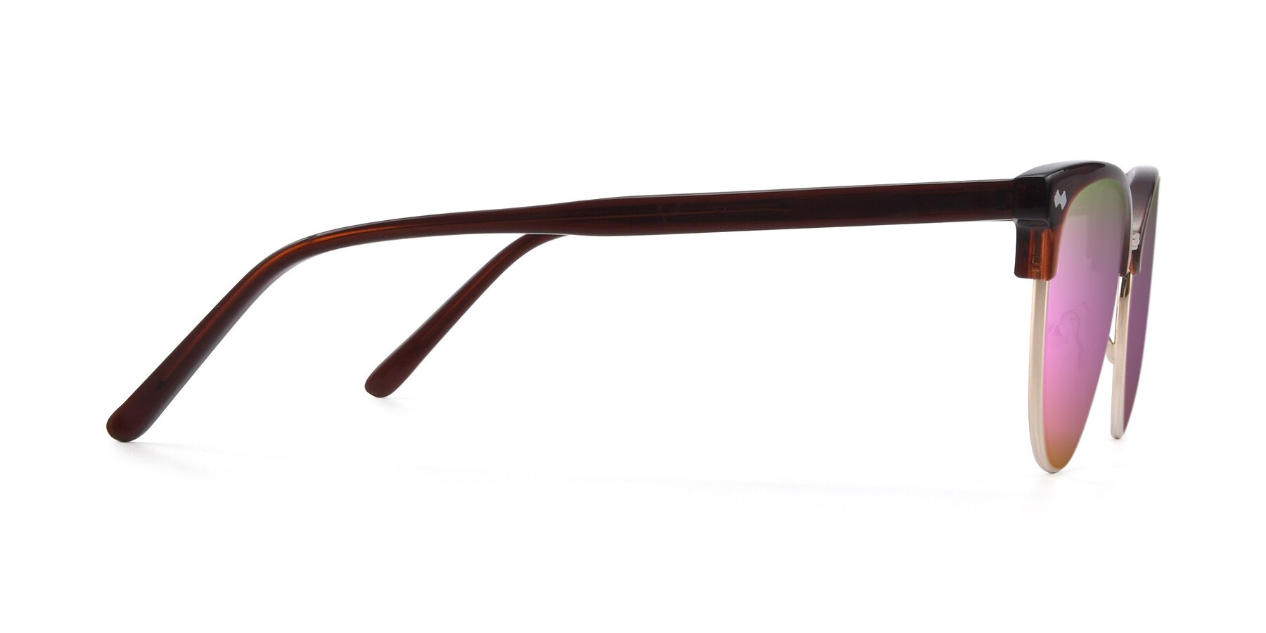 Side of 17461 in Tortoise-Black with Pink Mirrored Lenses