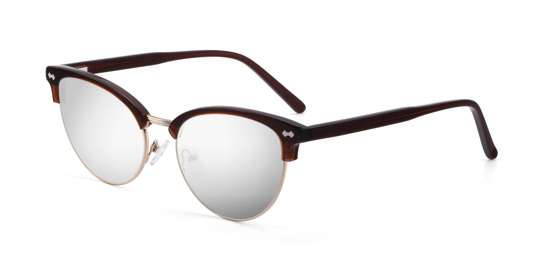 Angle of 17461 in Tortoise-Black with Silver Mirrored Lenses