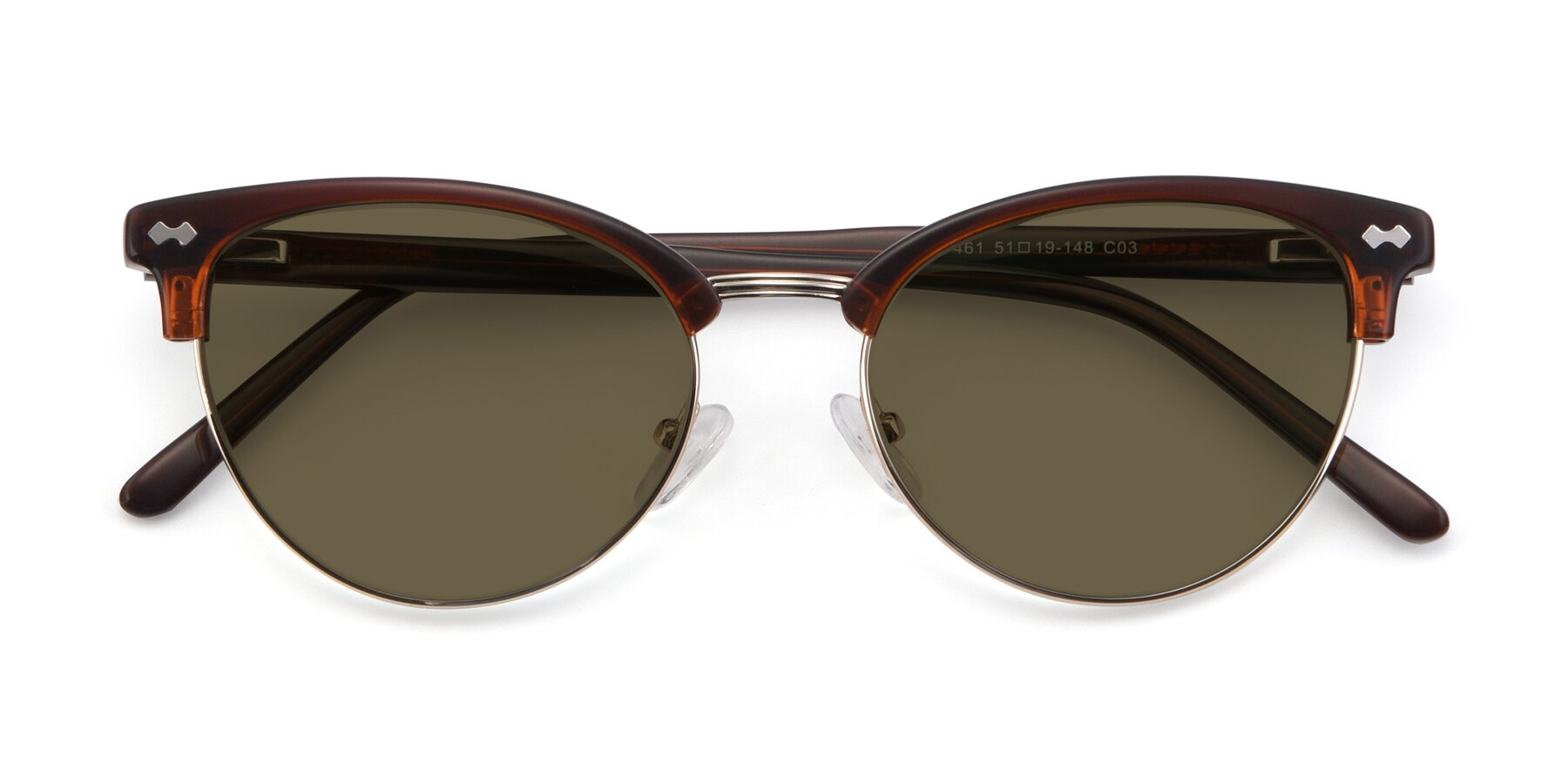 Folded Front of 17461 in Tortoise-Black with Brown Polarized Lenses