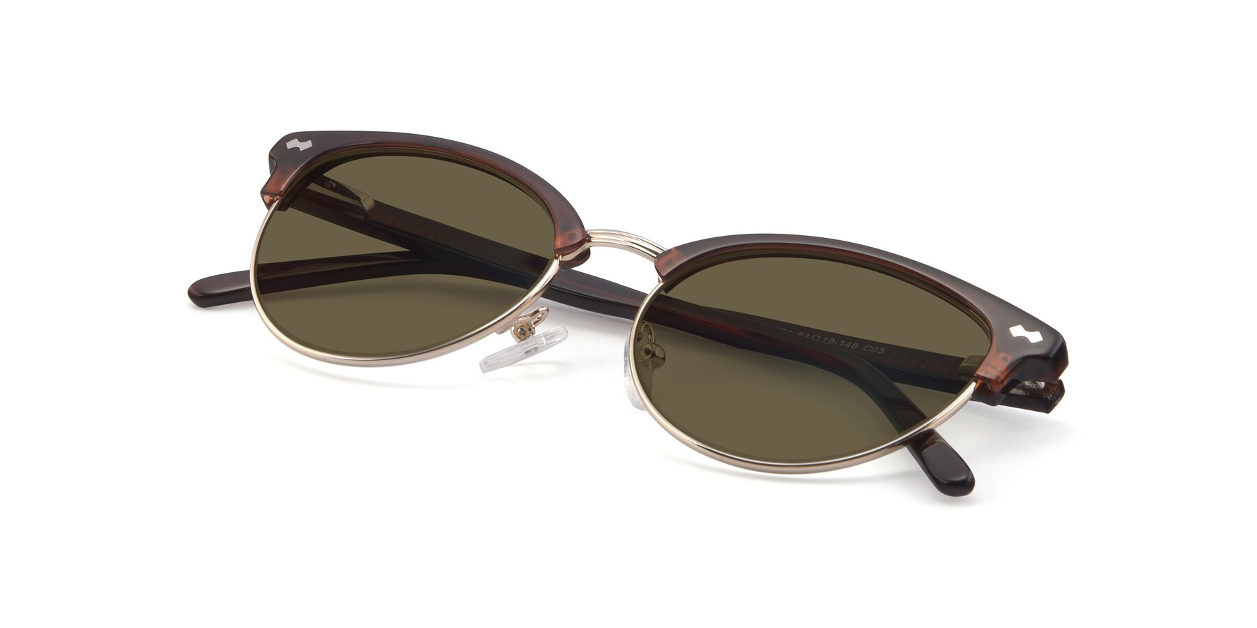 View of 17461 in Tortoise-Black with Brown Polarized Lenses