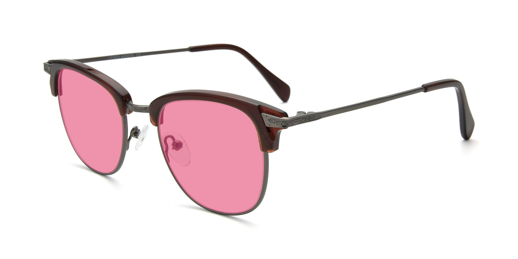 Angle of 17460 in Wine-Gun with Pink Tinted Lenses