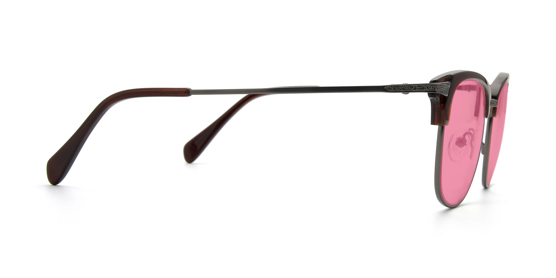 Side of 17460 in Wine-Gun with Pink Tinted Lenses