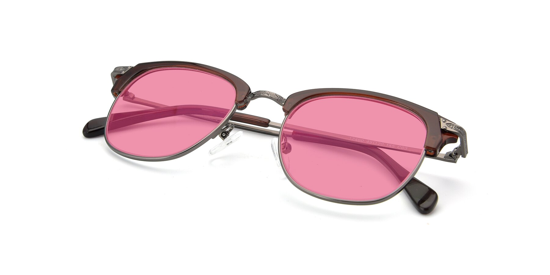 View of 17460 in Wine-Gun with Pink Tinted Lenses