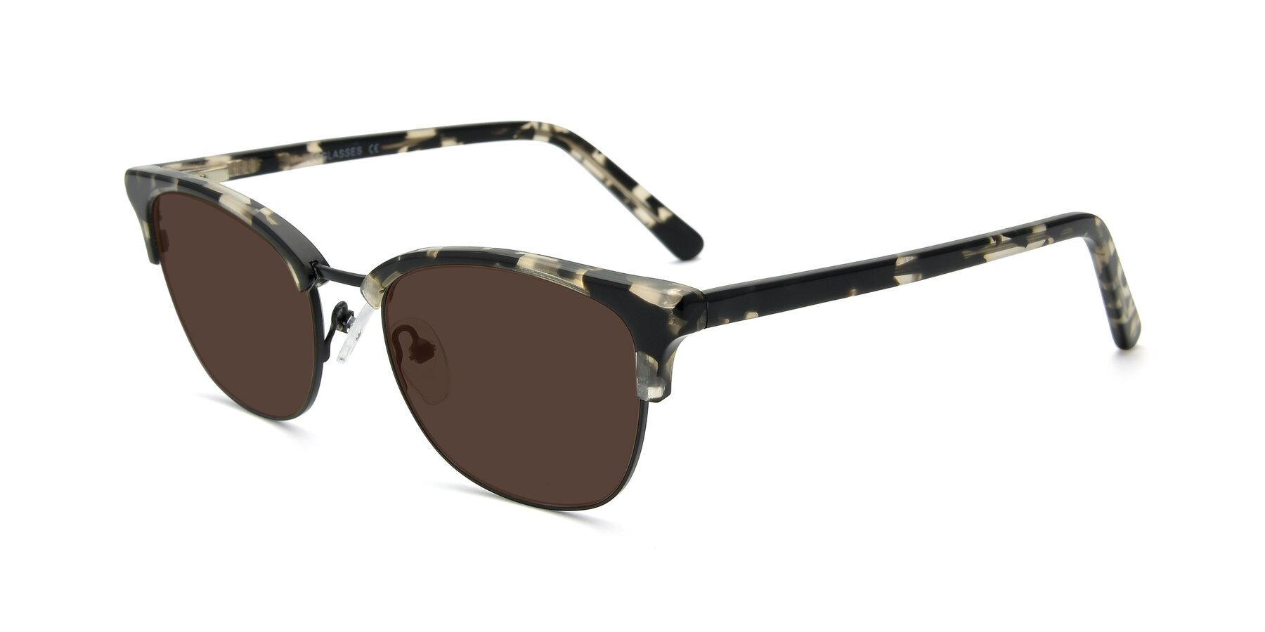 Angle of 17463 in Black-Tortoise with Brown Tinted Lenses