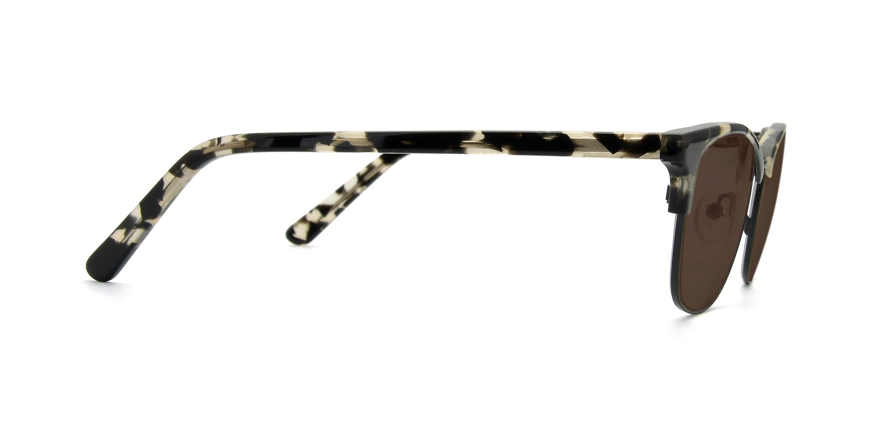 Side of 17463 in Black-Tortoise with Brown Tinted Lenses
