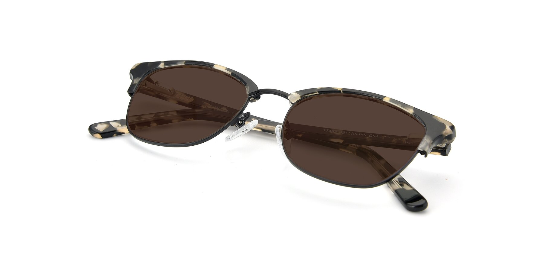 View of 17463 in Black-Tortoise with Brown Tinted Lenses