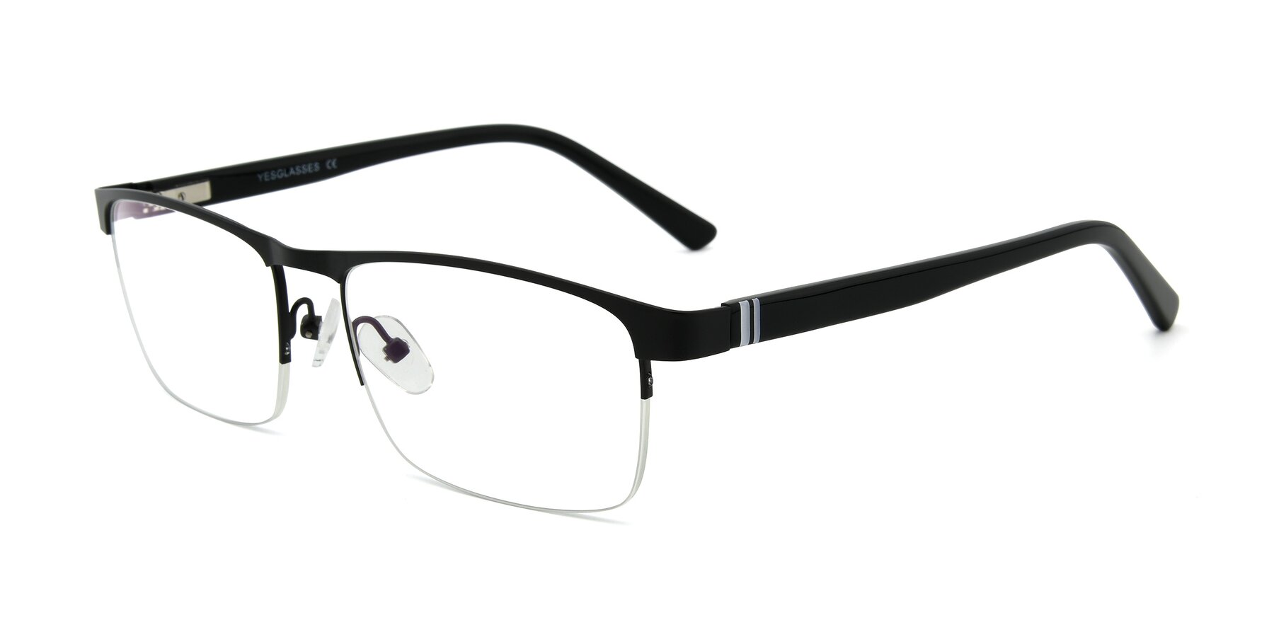 Angle of 9212 in Gunmetal with Clear Eyeglass Lenses