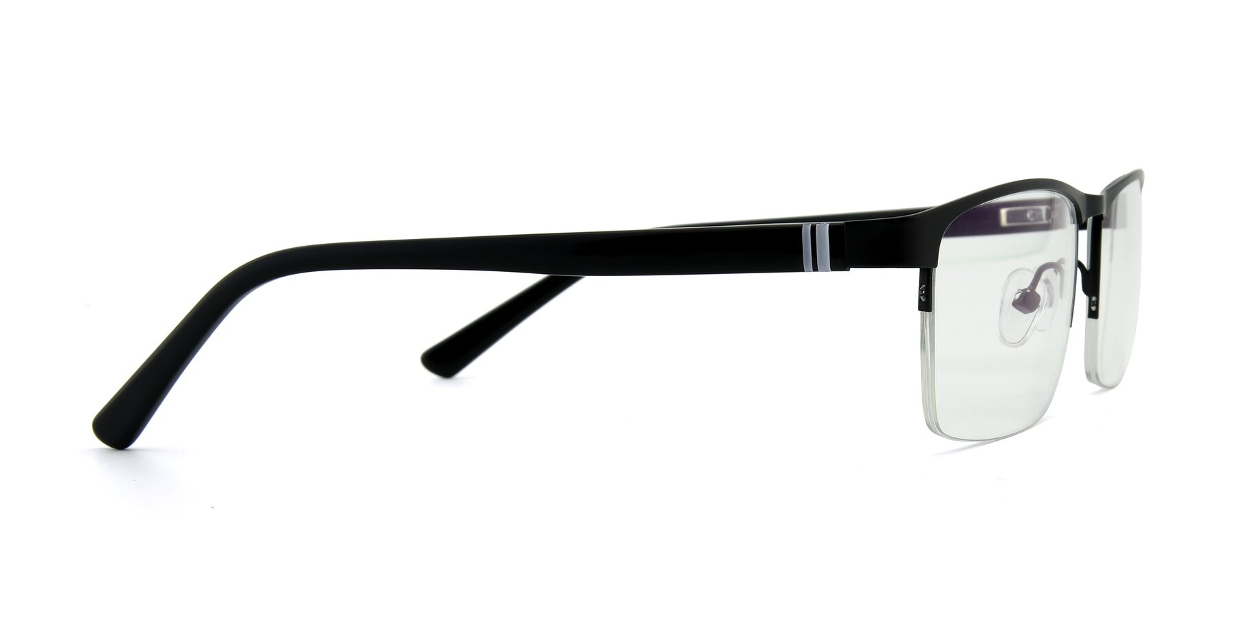 Side of 9212 in Gunmetal with Clear Eyeglass Lenses