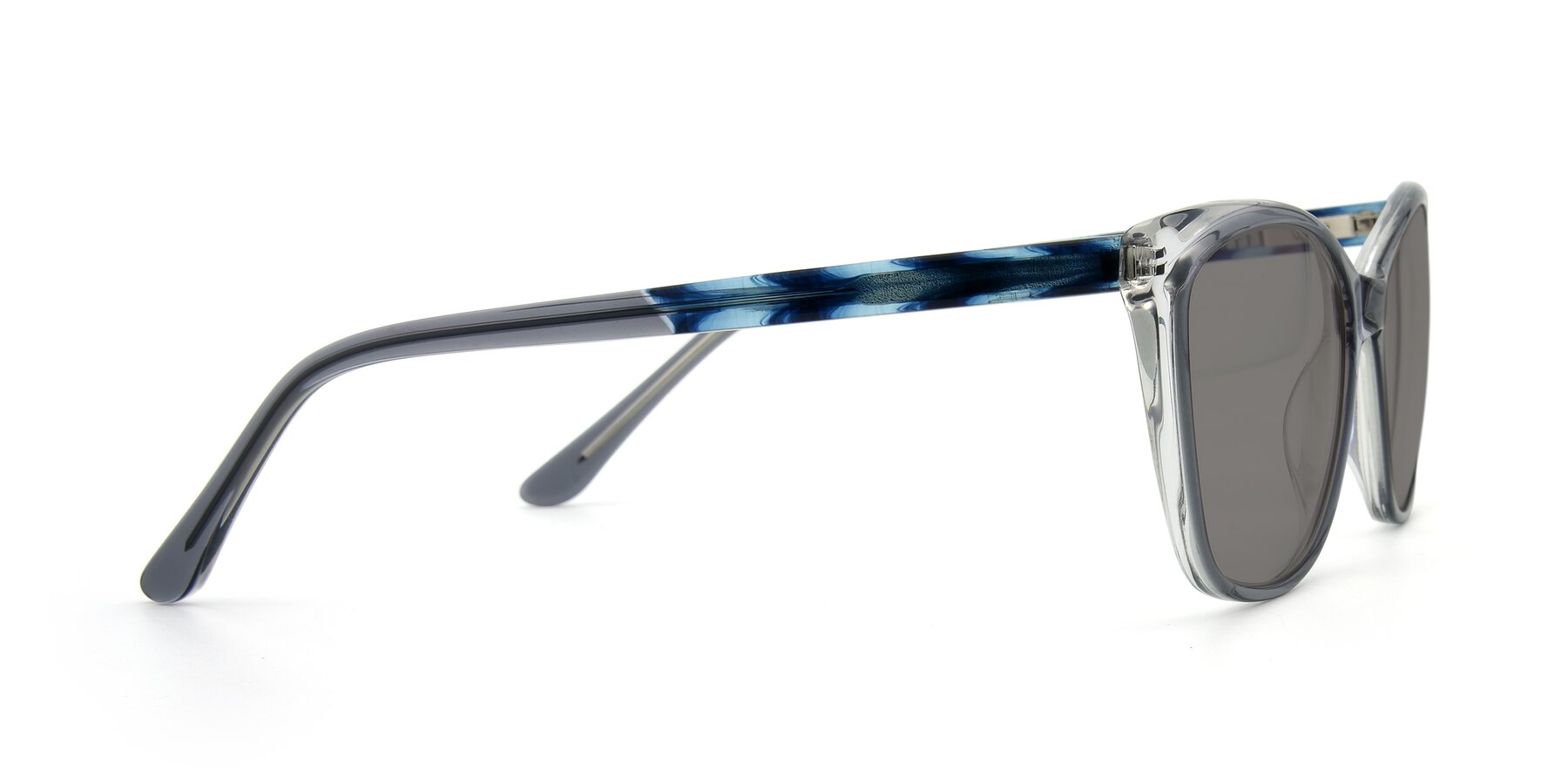 Side of 17384 in Transparent Grey with Medium Gray Tinted Lenses