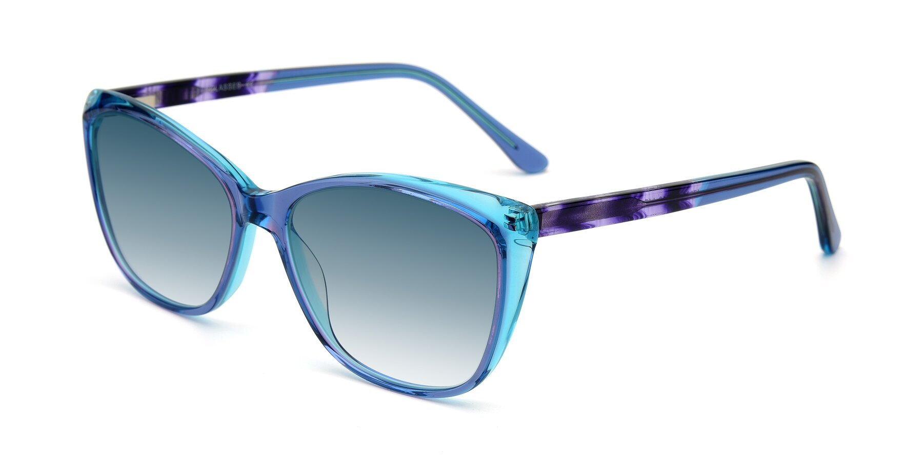 Angle of 17384 in Transparent Blue with Blue Gradient Lenses