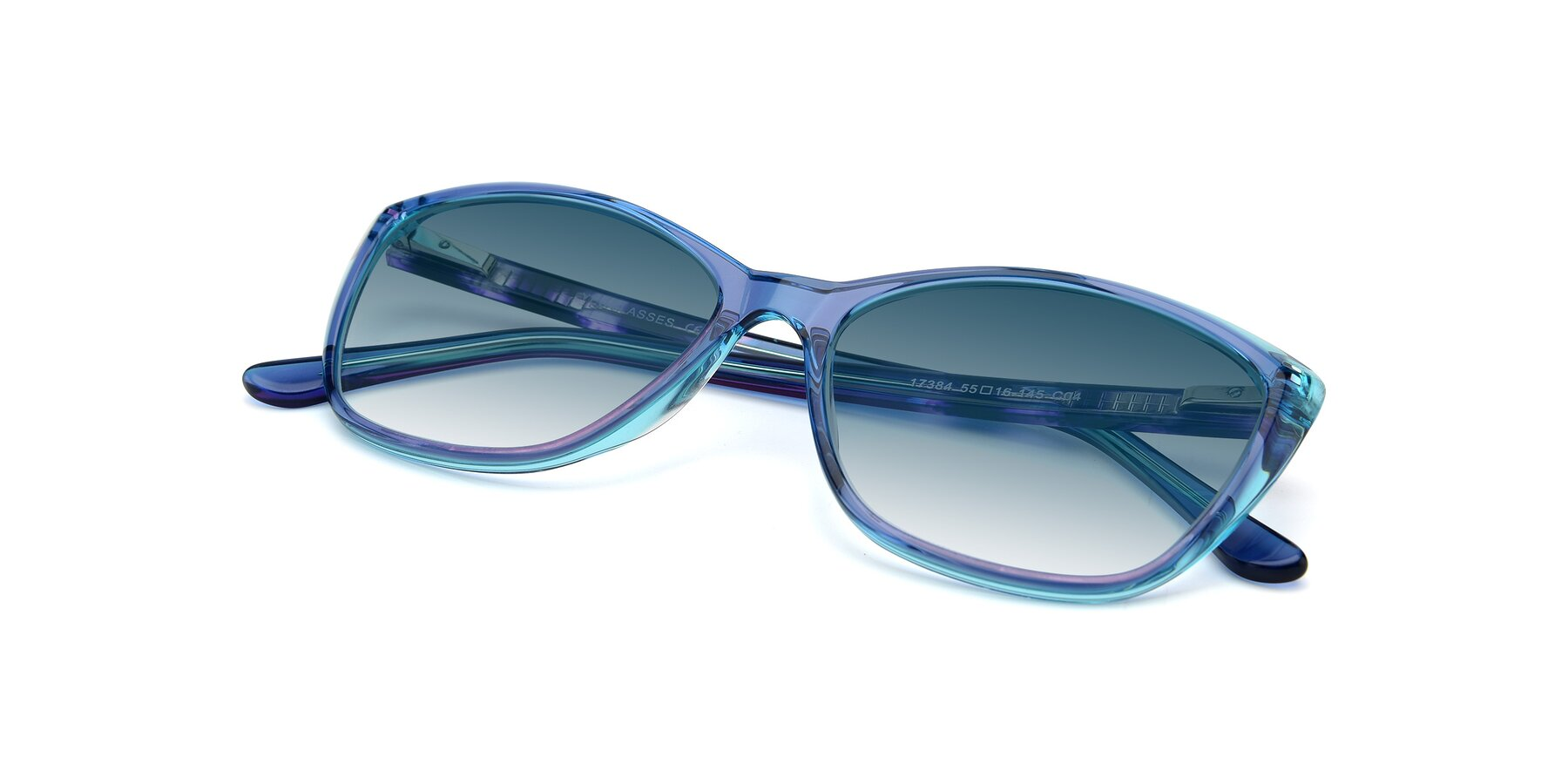 View of 17384 in Transparent Blue with Blue Gradient Lenses