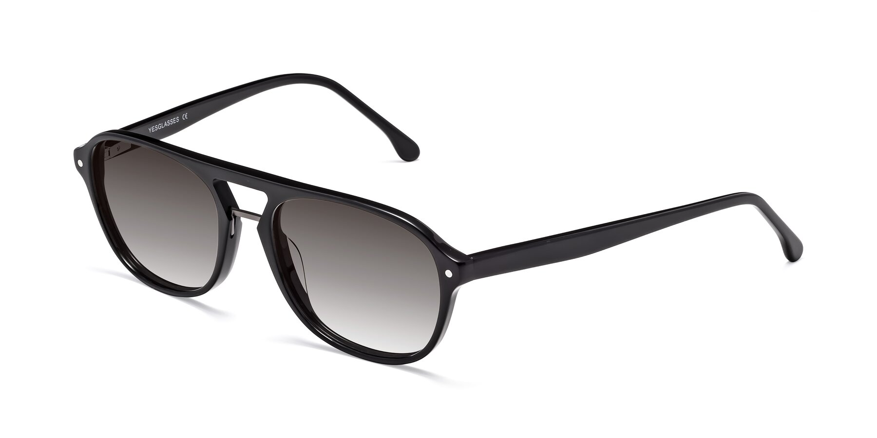Angle of 17416 in Black with Gray Gradient Lenses