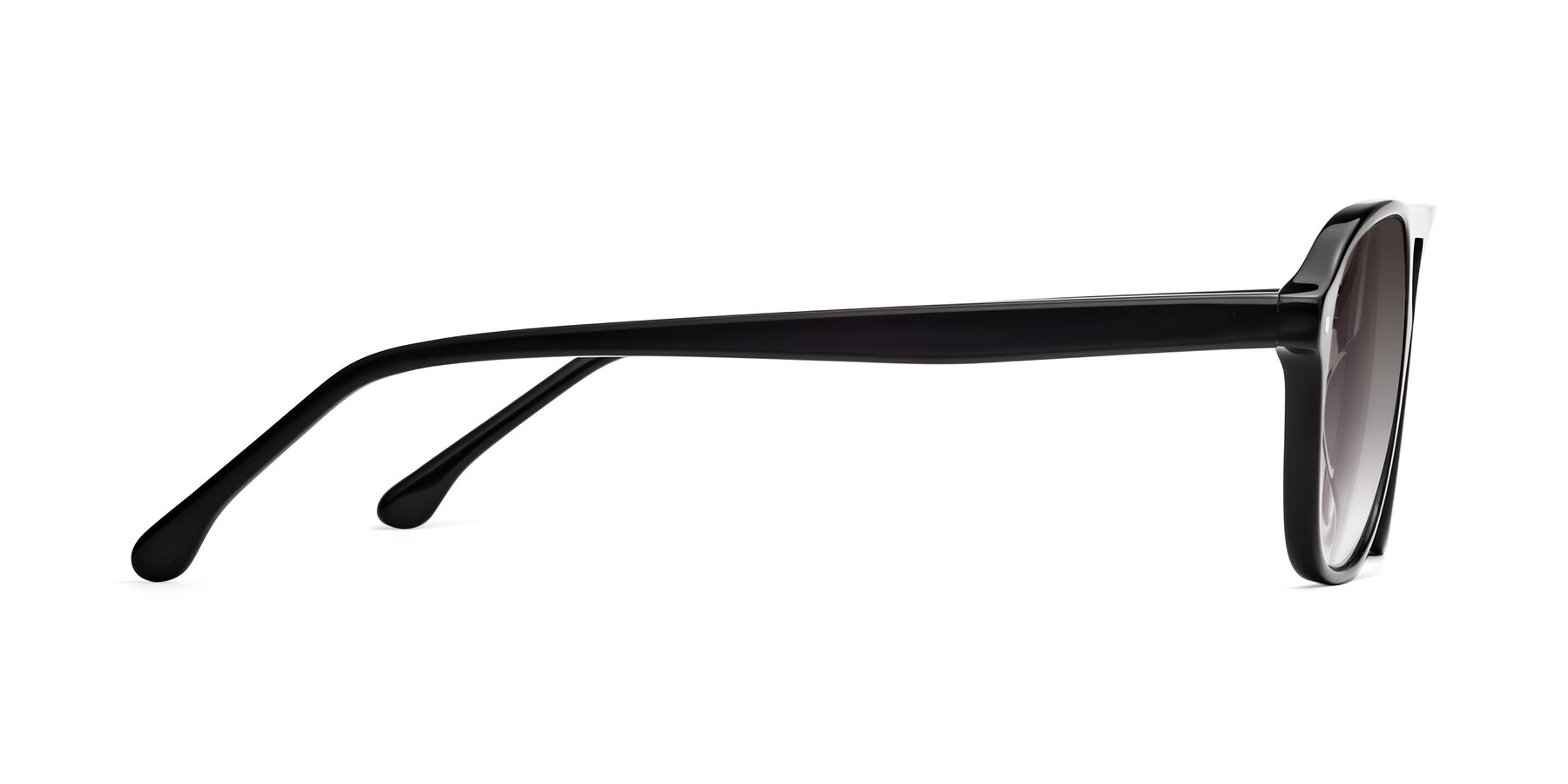 Side of 17416 in Black with Gray Gradient Lenses