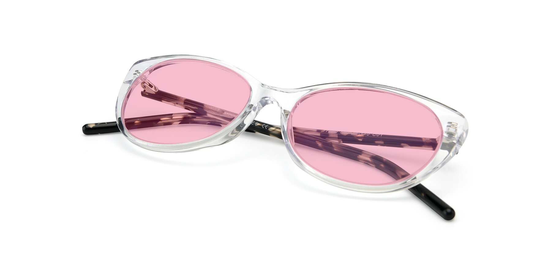 View of 17420 in Clear with Medium Pink Tinted Lenses