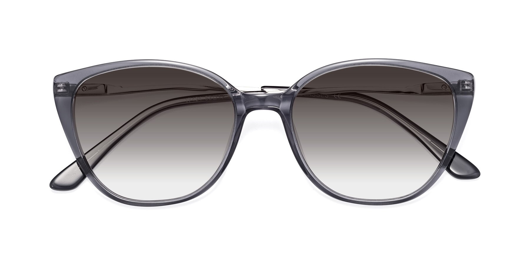 Folded Front of 17424 in Transparent Grey with Gray Gradient Lenses