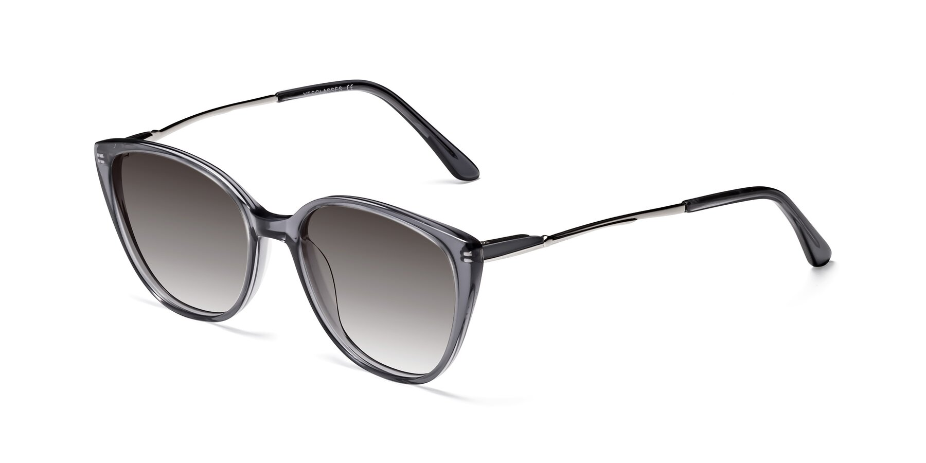Angle of 17424 in Transparent Grey with Gray Gradient Lenses