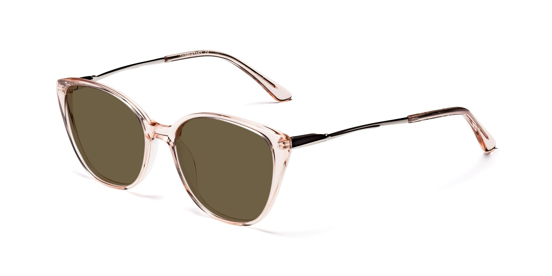 Angle of 17424 in Transparent Pink with Brown Polarized Lenses