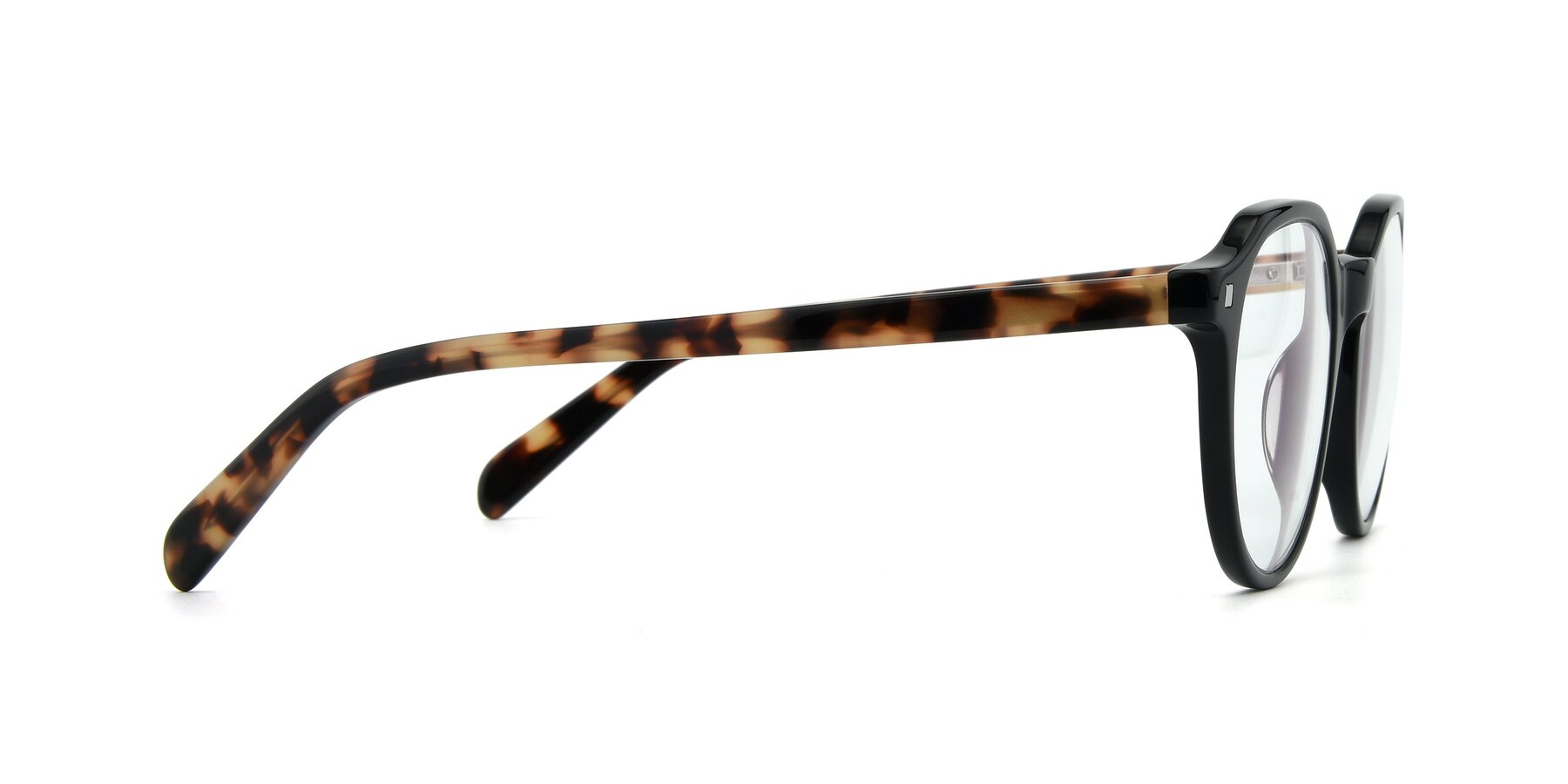 Side of 17425 in Black with Clear Eyeglass Lenses