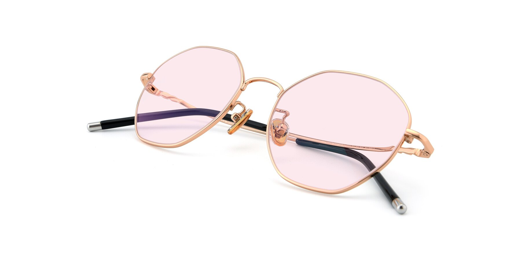 View of 90059 in Gold with Light Pink Tinted Lenses