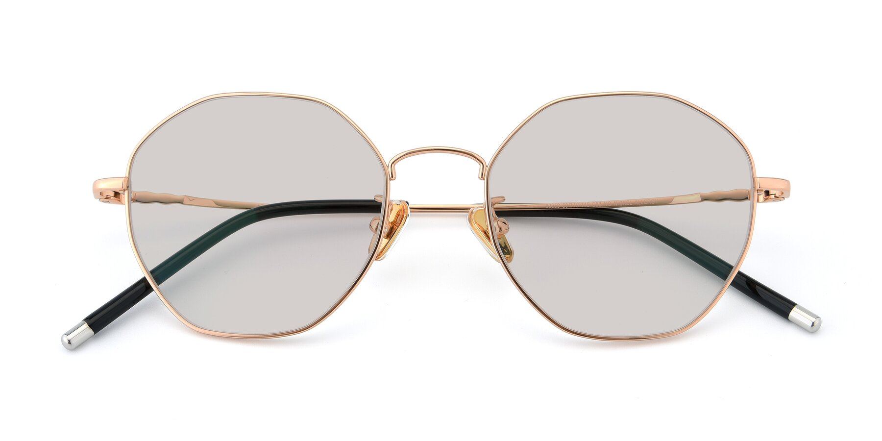 Folded Front of 90059 in Gold with Light Brown Tinted Lenses