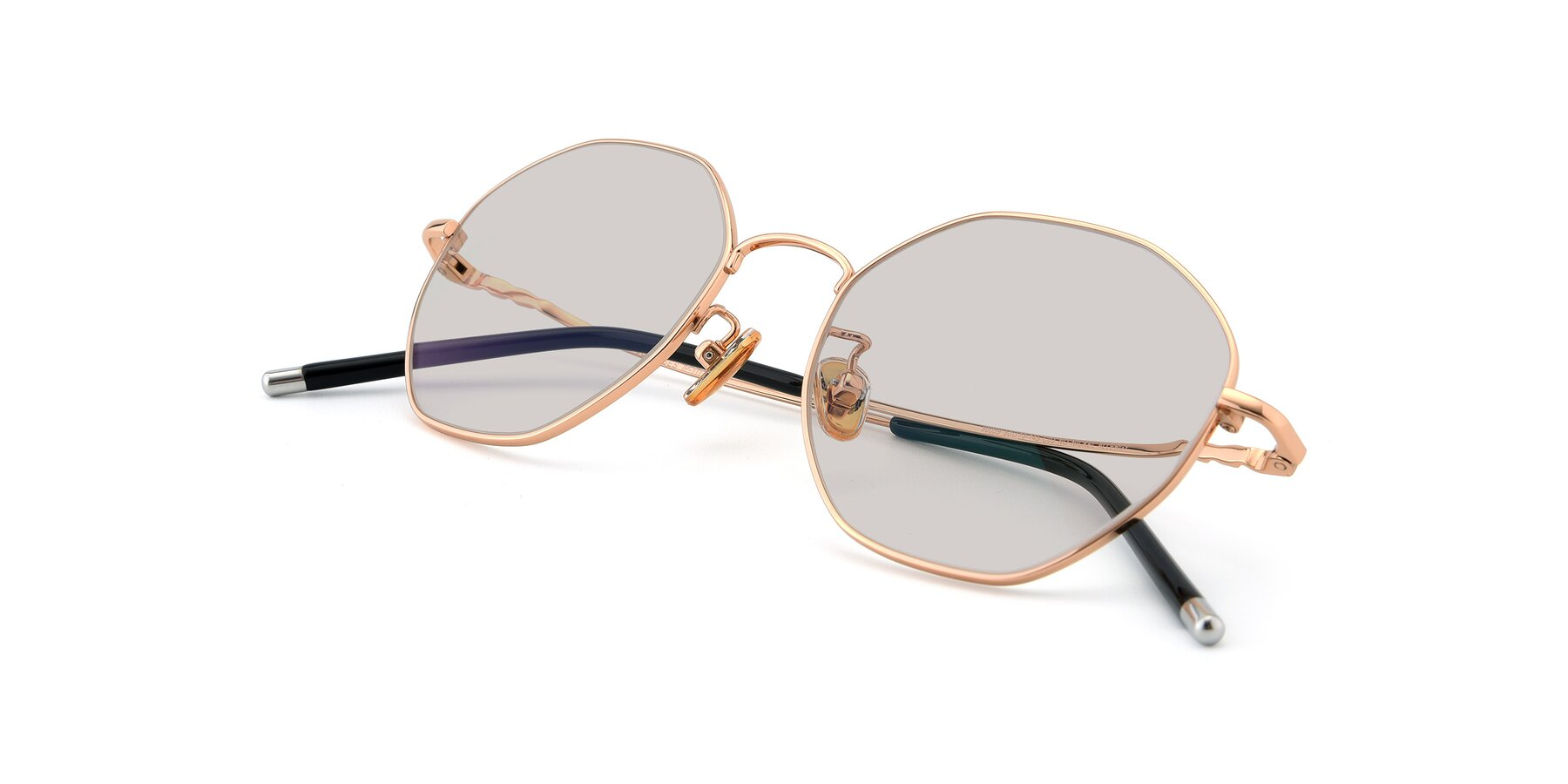 View of 90059 in Gold with Light Brown Tinted Lenses