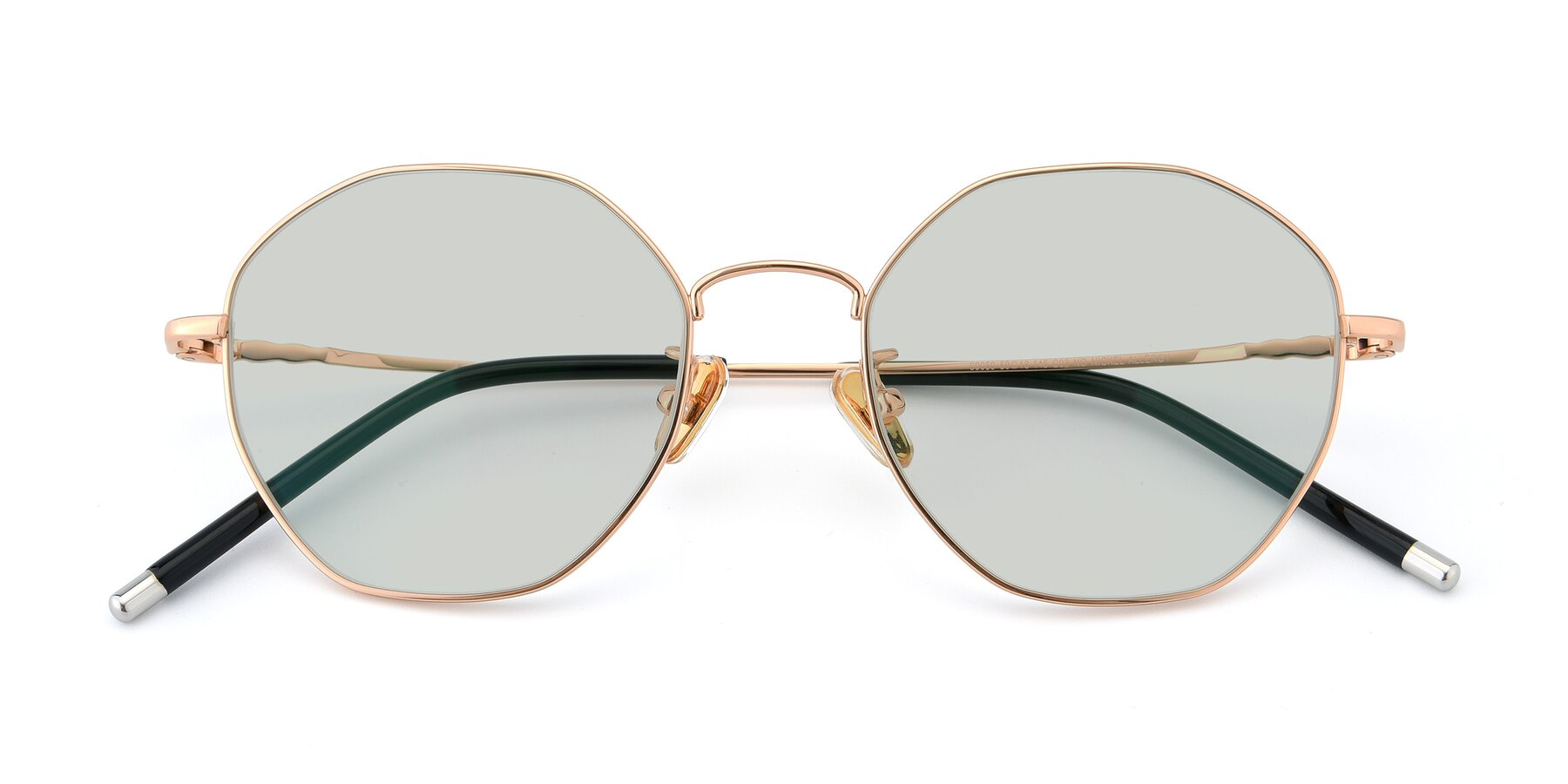 Folded Front of 90059 in Gold with Light Green Tinted Lenses