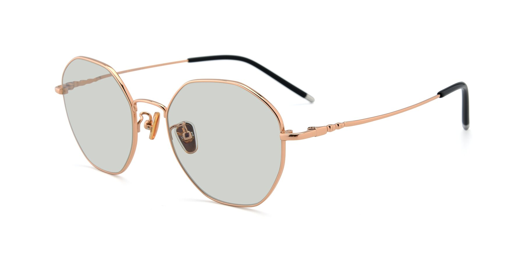 Angle of 90059 in Gold with Light Green Tinted Lenses
