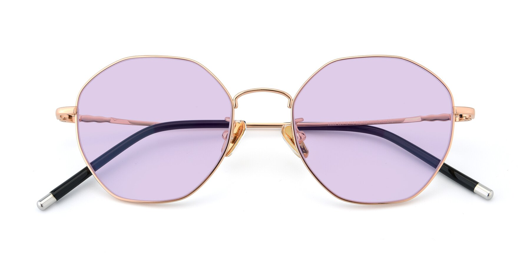 Folded Front of 90059 in Gold with Light Purple Tinted Lenses