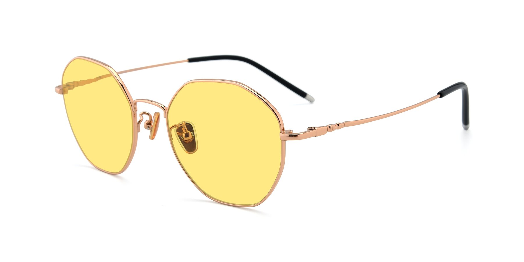 Angle of 90059 in Gold with Medium Yellow Tinted Lenses