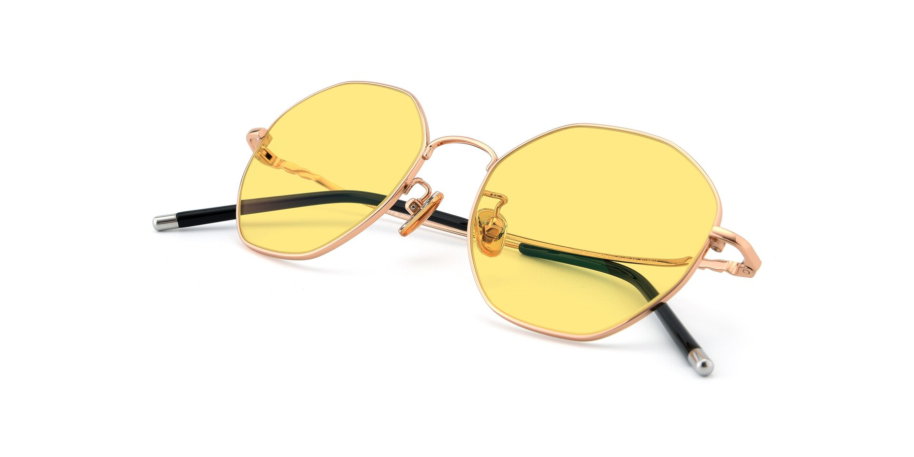 View of 90059 in Gold with Medium Yellow Tinted Lenses