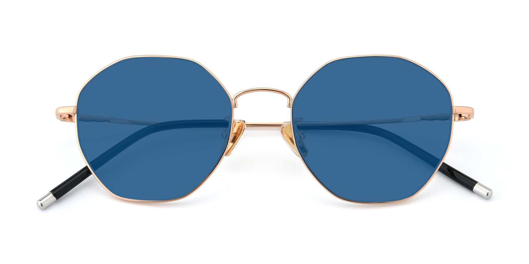 Folded Front of 90059 in Gold with Blue Tinted Lenses
