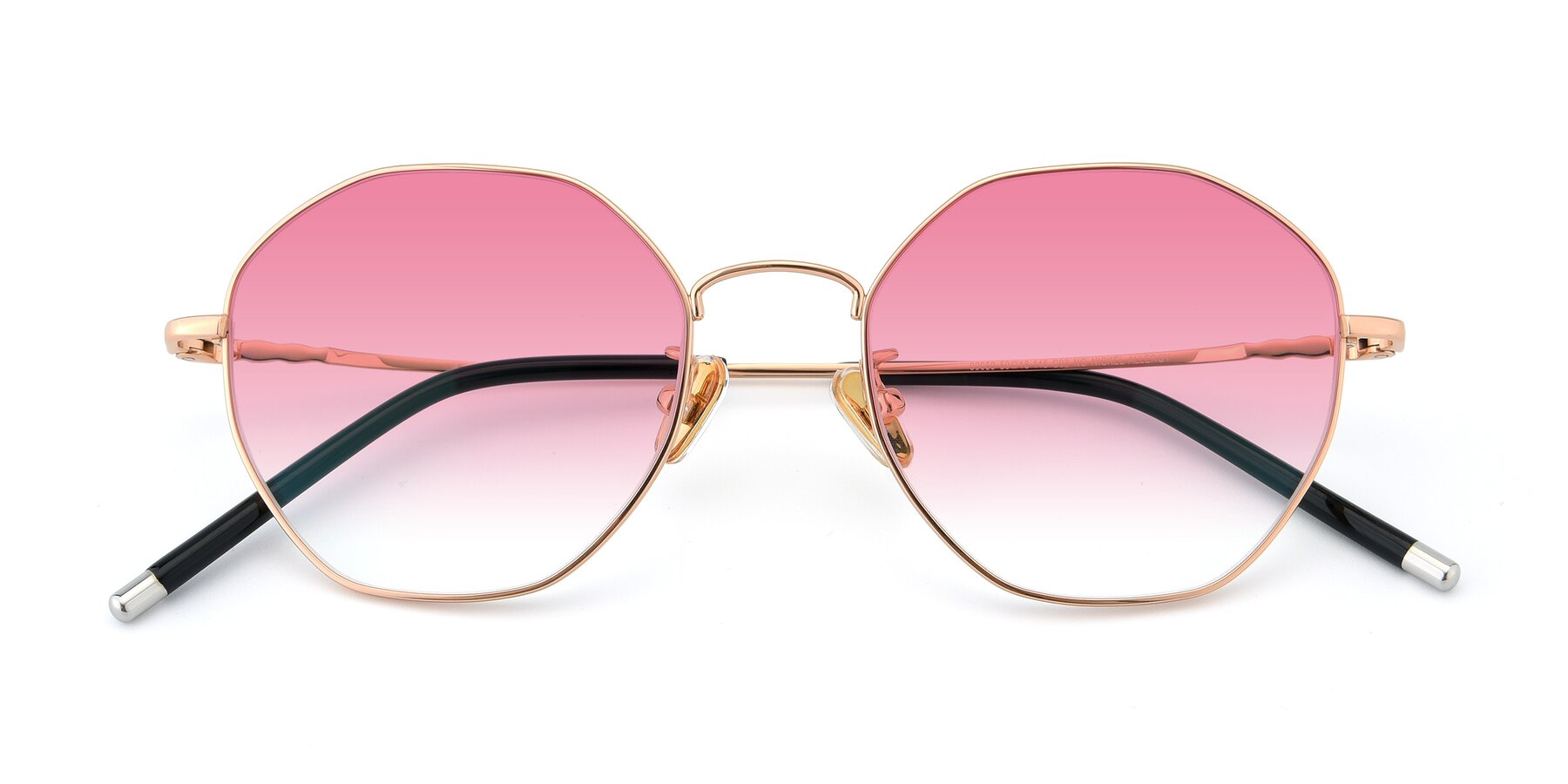 Folded Front of 90059 in Gold with Pink Gradient Lenses