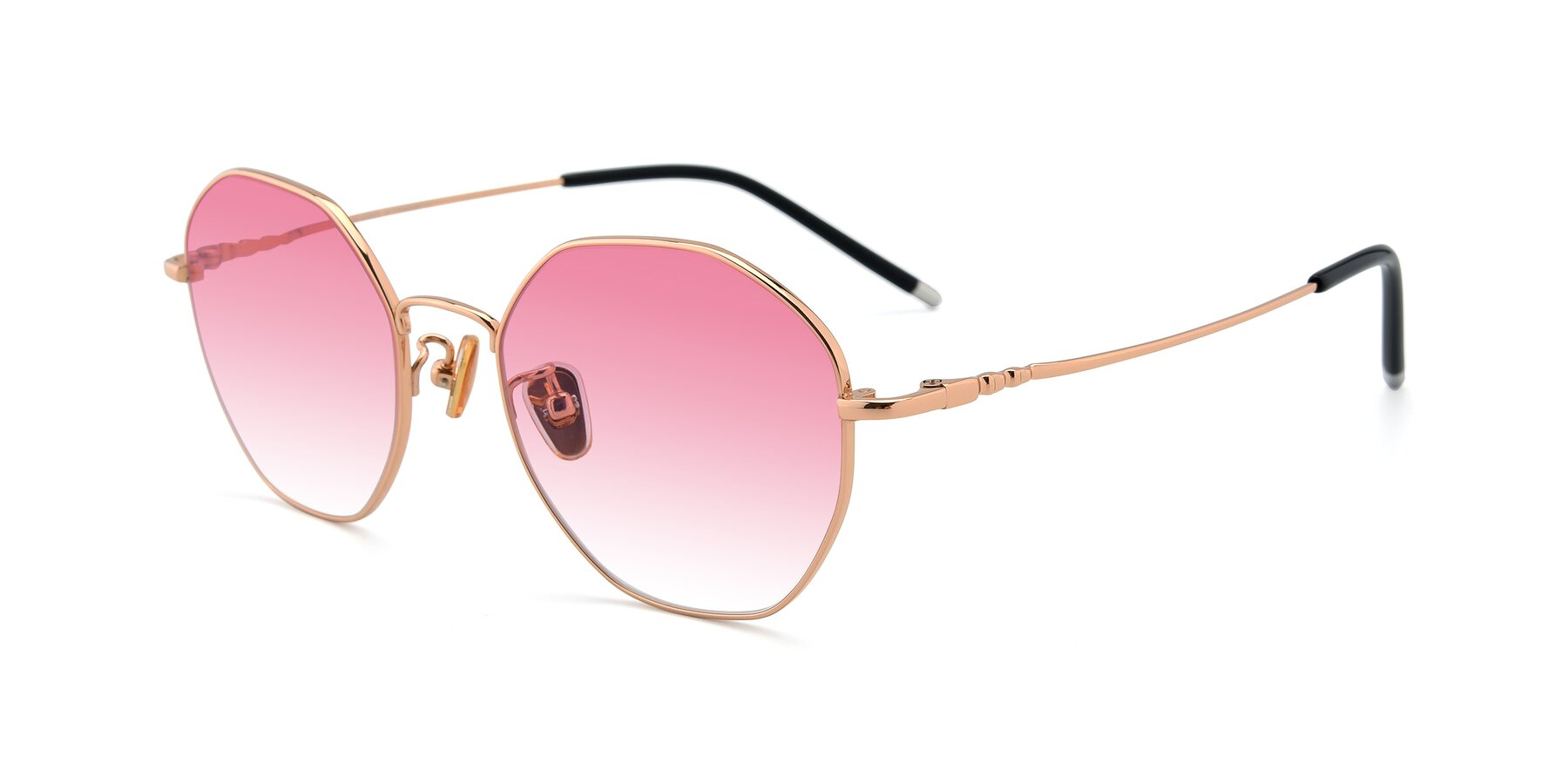 Angle of 90059 in Gold with Pink Gradient Lenses