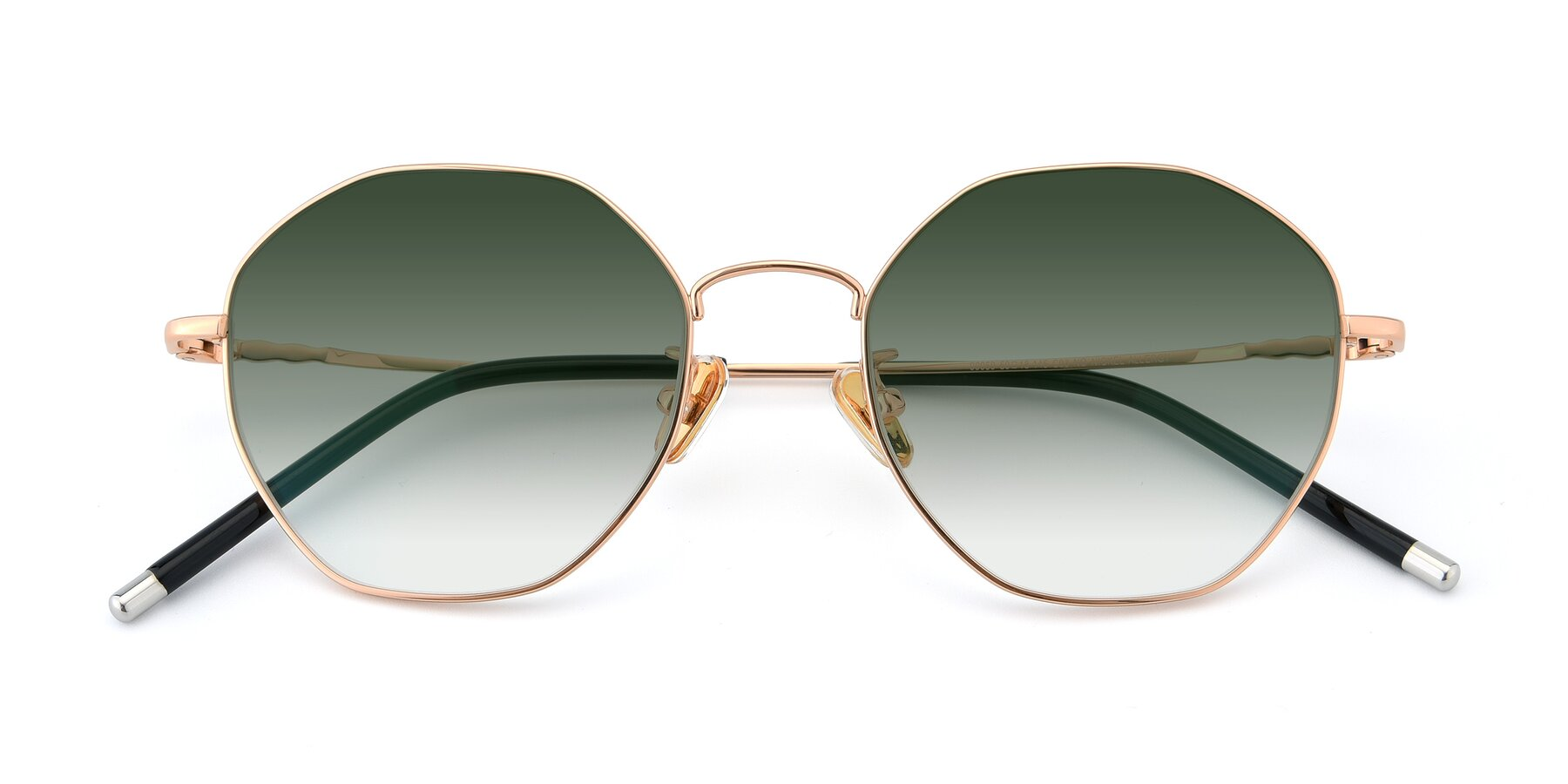 Folded Front of 90059 in Gold with Green Gradient Lenses
