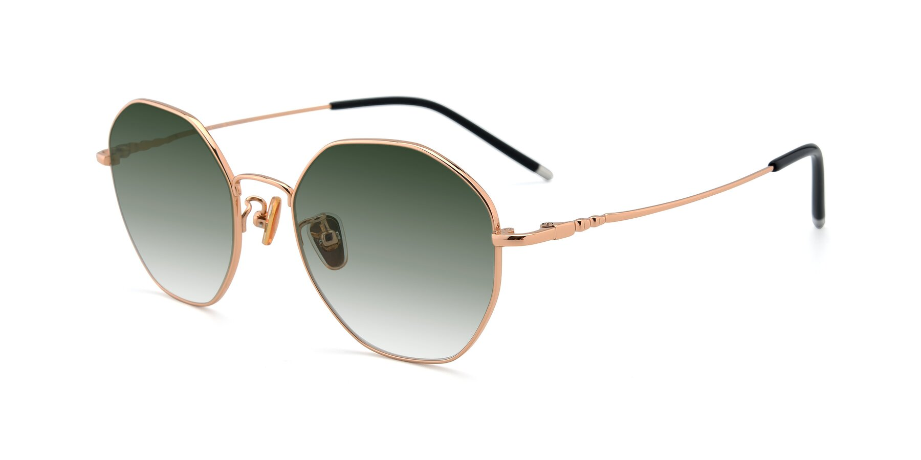 Angle of 90059 in Gold with Green Gradient Lenses