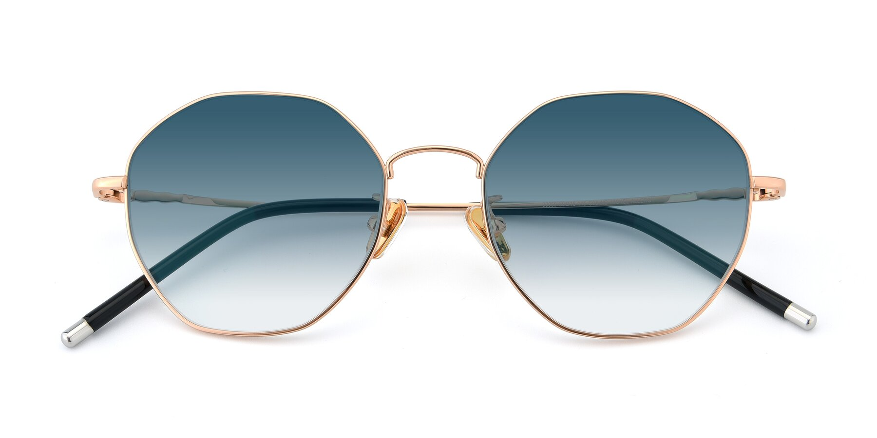 Folded Front of 90059 in Gold with Blue Gradient Lenses