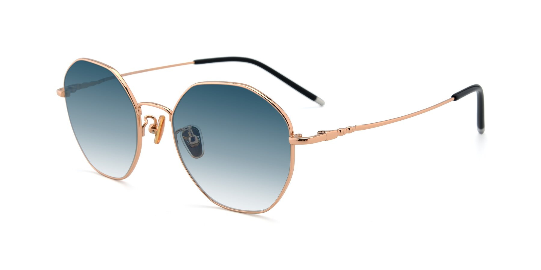 Angle of 90059 in Gold with Blue Gradient Lenses