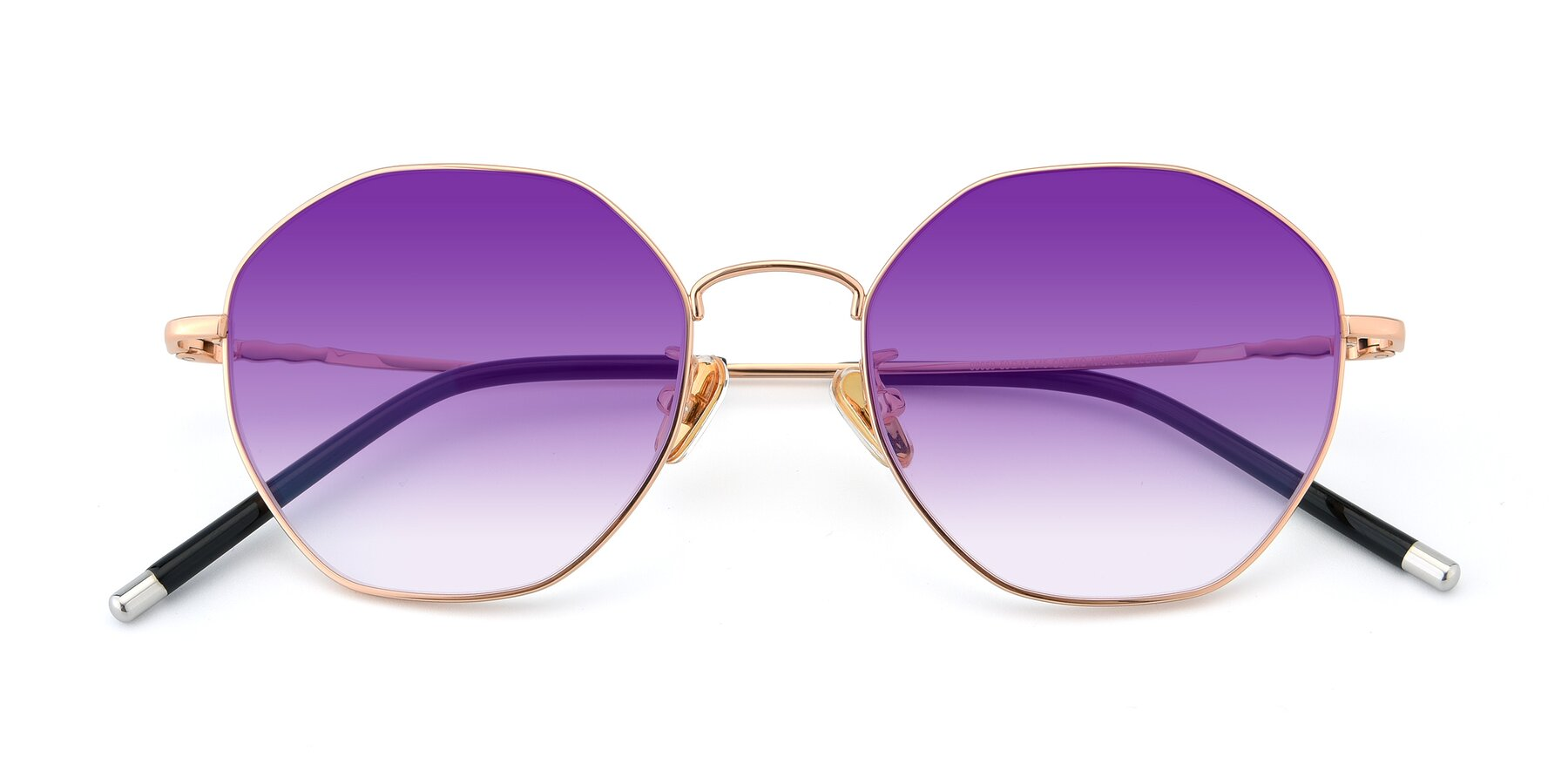 Folded Front of 90059 in Gold with Purple Gradient Lenses