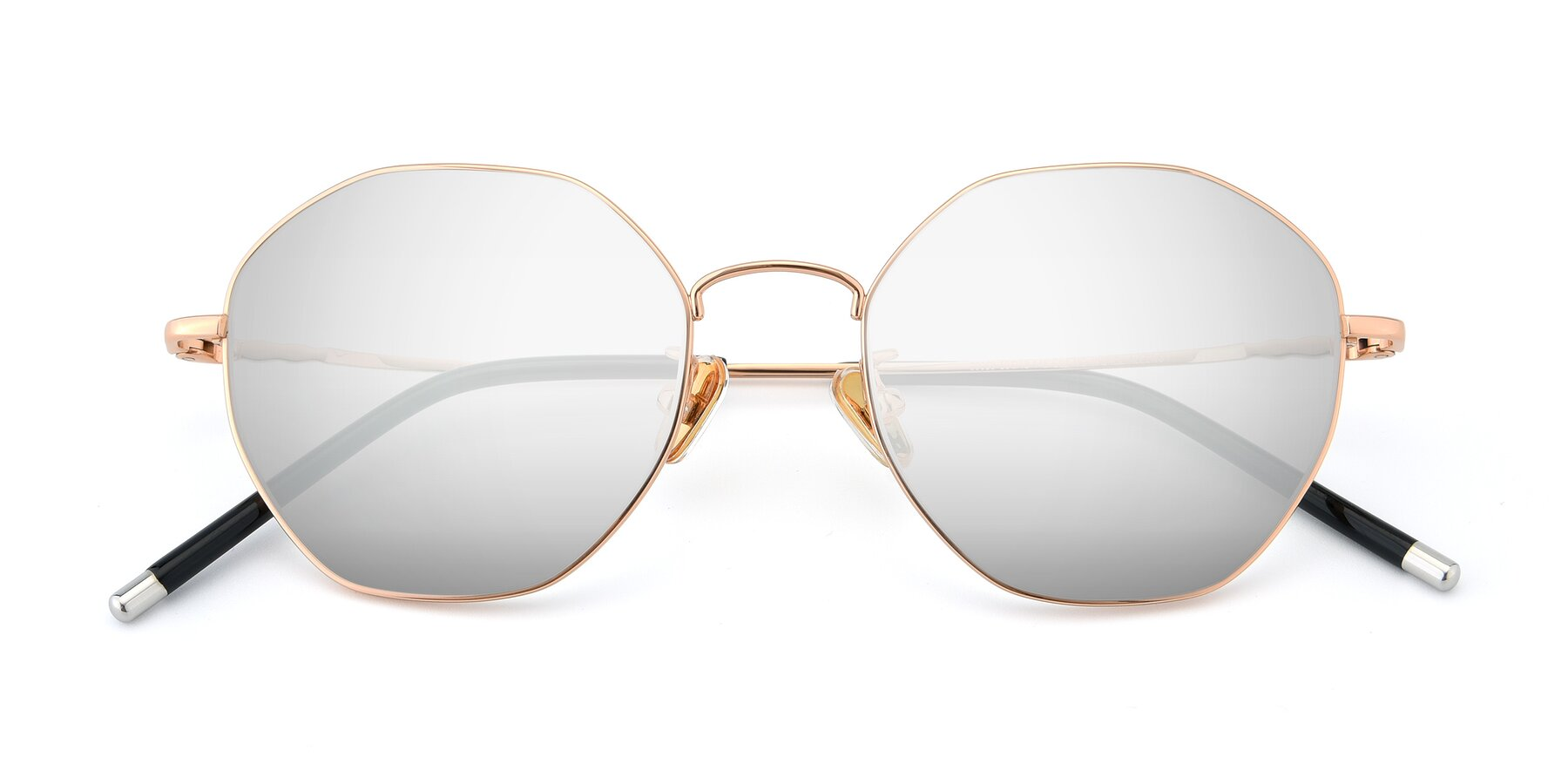 Folded Front of 90059 in Gold with Silver Mirrored Lenses