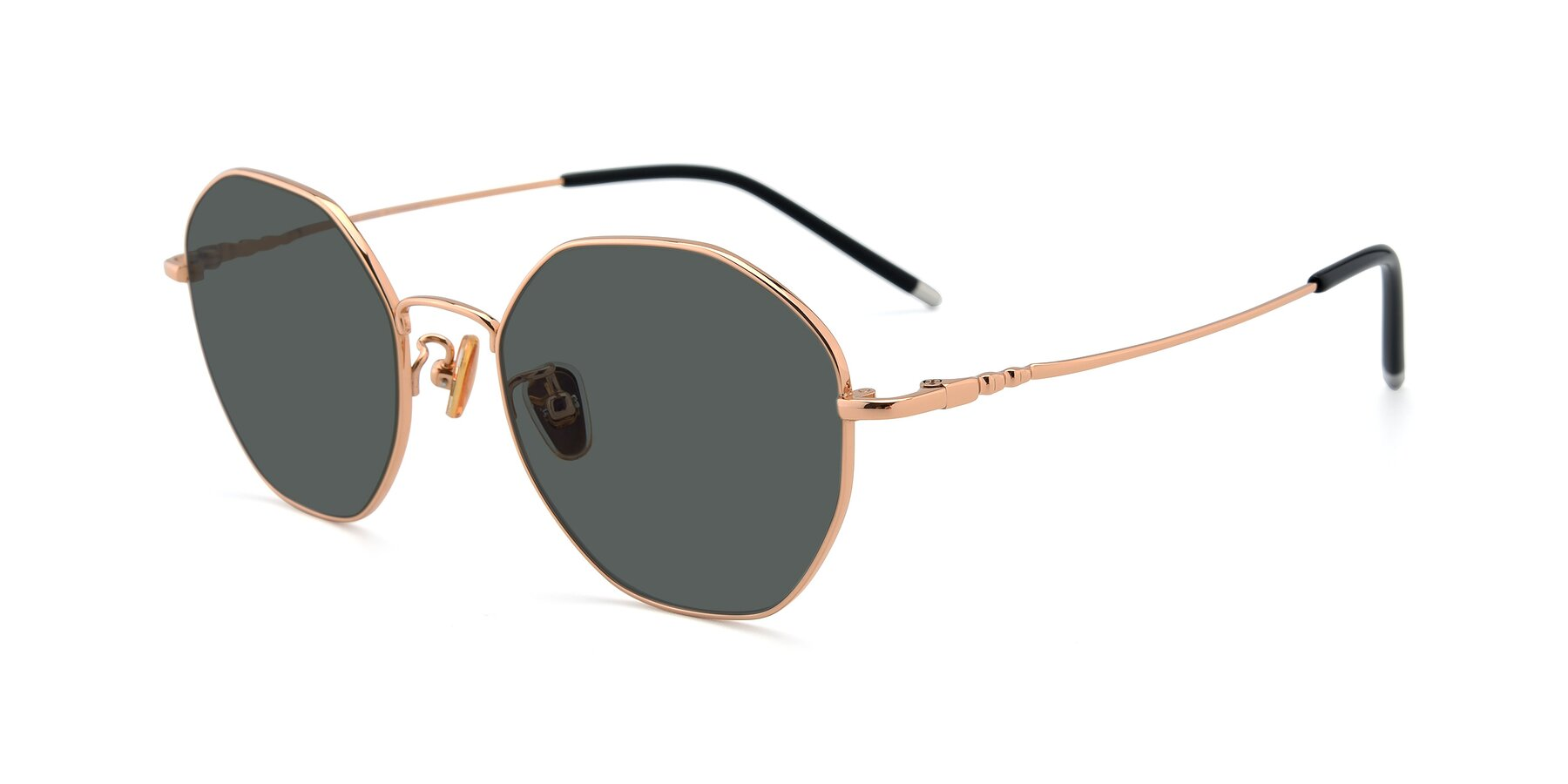 Angle of 90059 in Gold with Gray Polarized Lenses