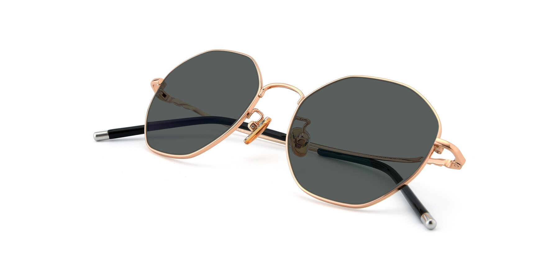 View of 90059 in Gold with Gray Polarized Lenses