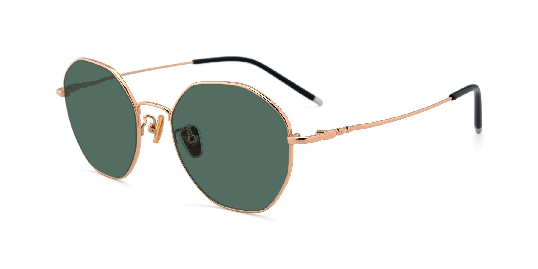 Angle of 90059 in Gold with Green Polarized Lenses