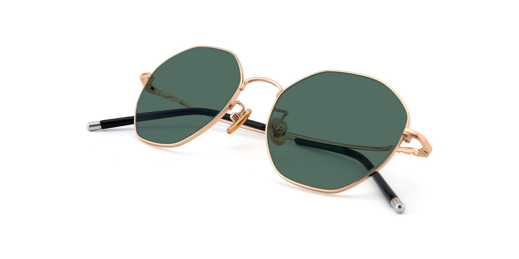 View of 90059 in Gold with Green Polarized Lenses
