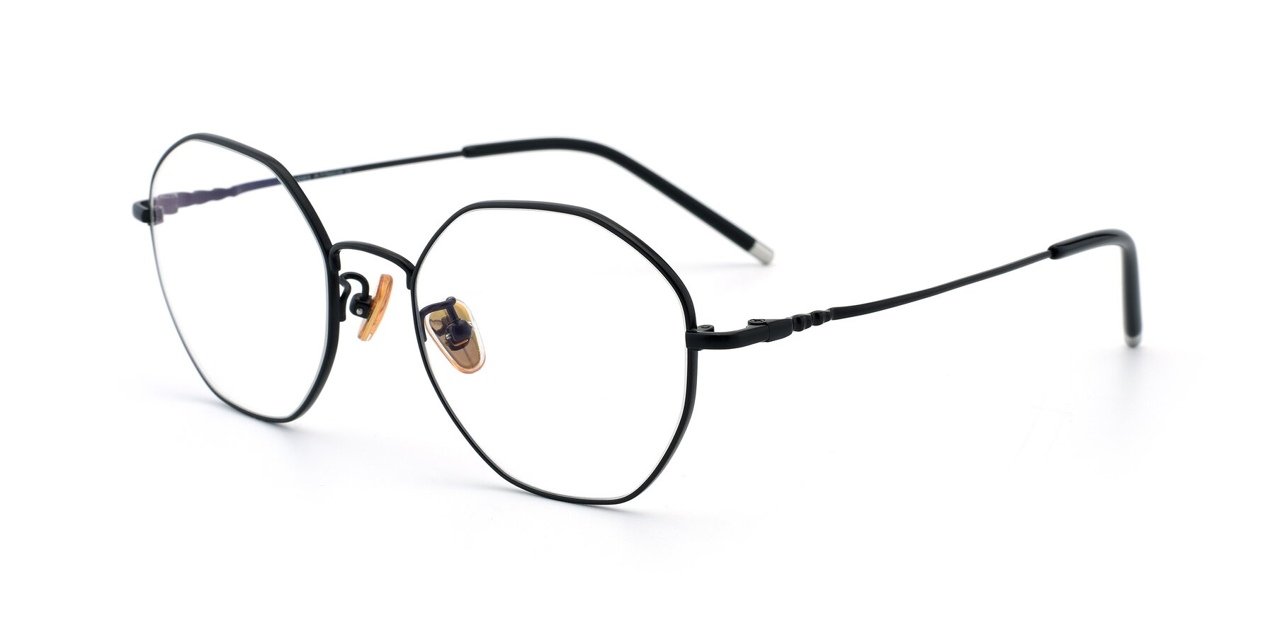 Angle of 90059 in Black with Clear Eyeglass Lenses
