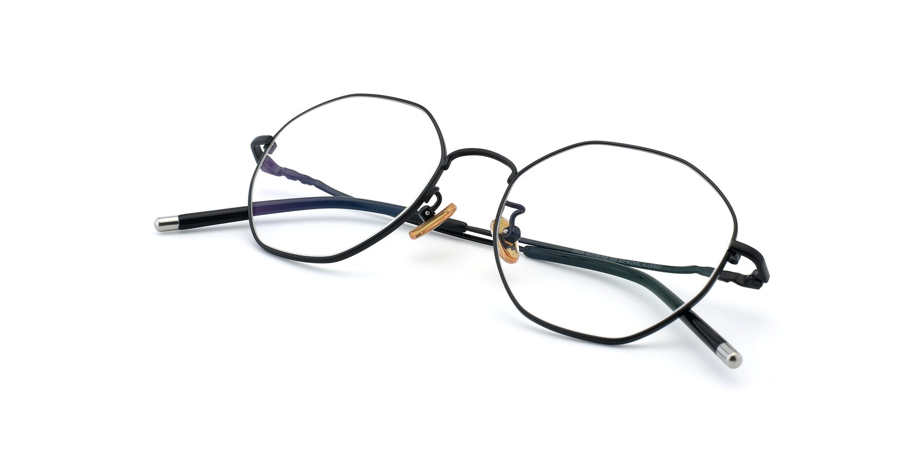 View of 90059 in Black with Clear Eyeglass Lenses