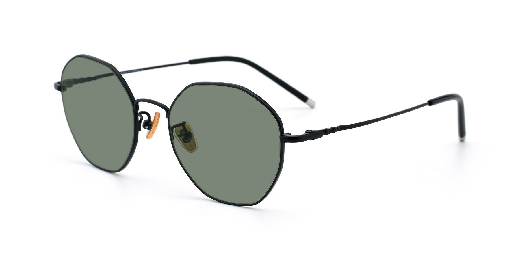 Angle of 90059 in Black with Medium Green Tinted Lenses