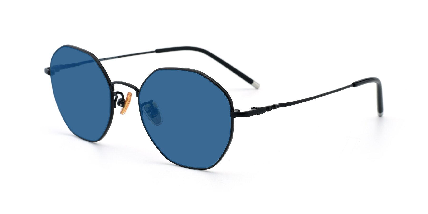 Angle of 90059 in Black with Blue Tinted Lenses